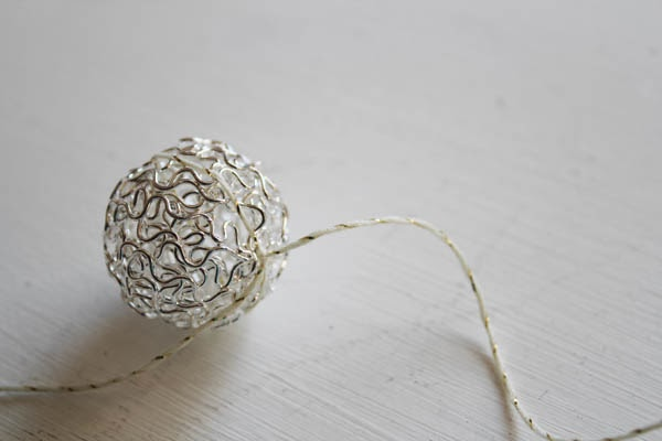 Silver Wire Ball garland