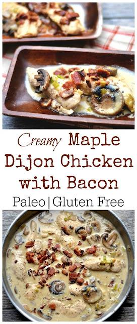 Creamy Maple Dijon Chicken with Bacon