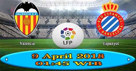 Prediksi Bola855 Valencia vs RCD Espanyol 9 April 2018