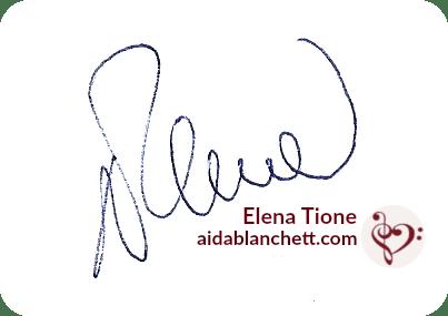 Un abbraccio,   Elena