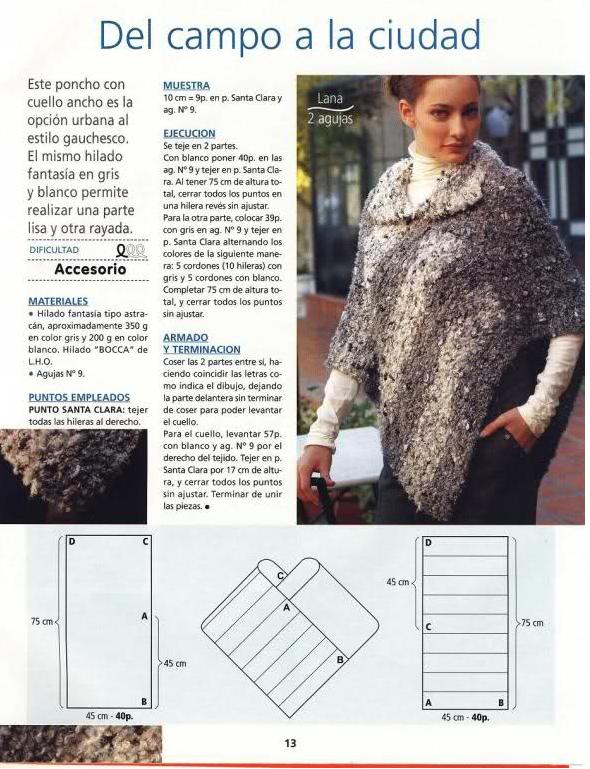 Único Poncho Libre Patrón De Crochet Imagen - Ideas de Patrones de ...