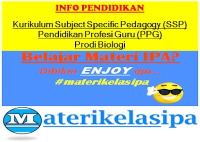 Kurikulum Workshop Subject Specific Pedagogy (SSP) Pendidikan Profesi Guru (PPG) Prodi Biologi