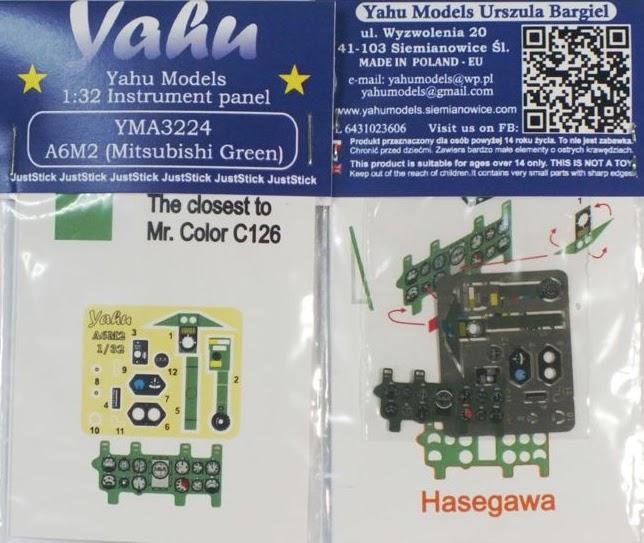 1//48 A6M2 Zero - - Instrument panel Mitsubishi Green yma4825// YAHU Models