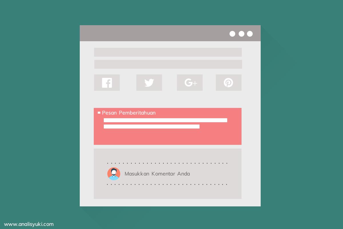 Cara Memasang Kotak Pesan Pemberitahuan Dibawah Postingan Blog