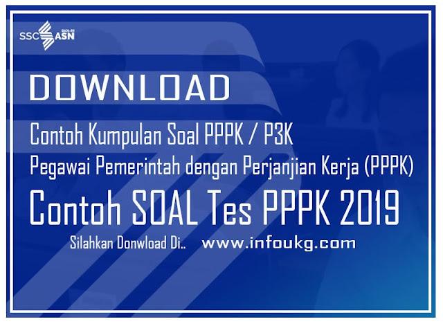 Download Kumpulan Contoh Soal Tes PPPK/P3K 2019 Super Lengkap