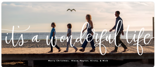 fun family christmas card