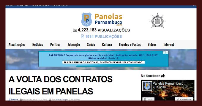 NOVO ARTIGO DO PIERRE LOGAN SOBRE A COLTA DOS CONTRATOS ILEGAIS EM PANELAS