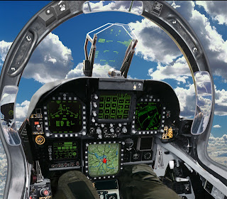 Cool Jet Airlines: F/A-18 Hornet Cockpit