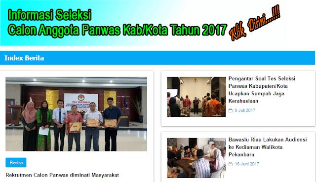 Timsel Panwas Kabupaten/Kota Se-Riau Umumkan Hasil Tes Tertulis