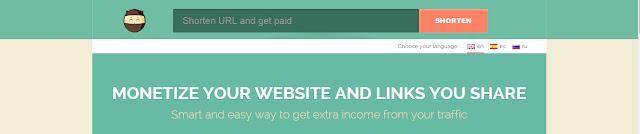 Enter url for shortening using shorte.st