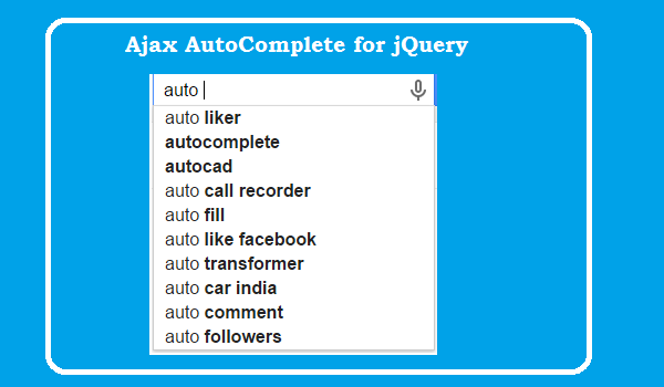 Ajax AutoComplete for jQuery