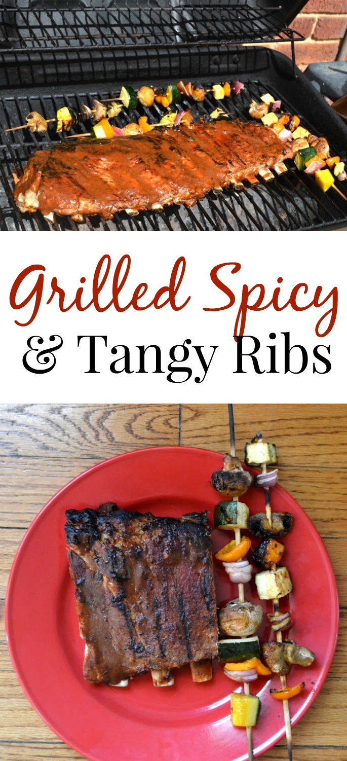These Grilled Spicy and Tangy Ribs are loaded with flavor and are fairly simple to make. Fire up your grill and enjoy ribs in no time! www.nutritionistreviews.com