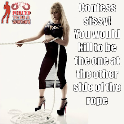 The other side of the rope Sissy TG Caption - TG Captions and more - Crossdressing and Sissy Tales and Captioned images