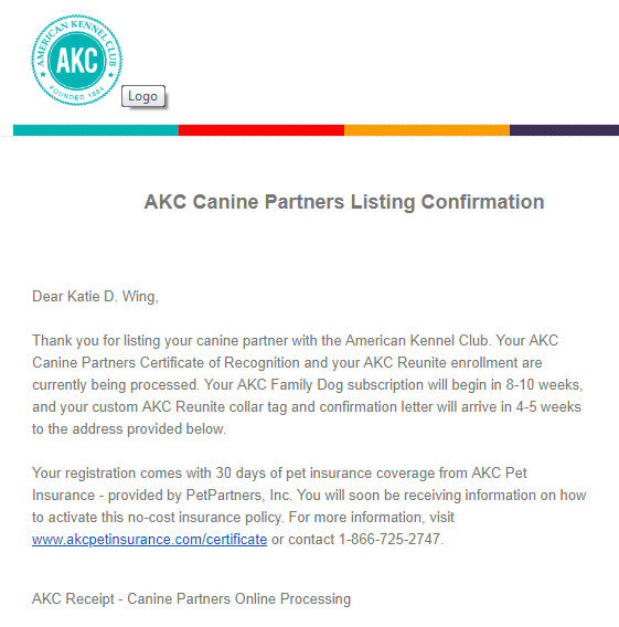 Life with Lucy & Poppy: Registering A Dog With AKC's Canine Partners