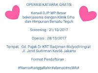 Operasi Katarak Gratis Digelar 21-10-2017, Ayoo Daftar !