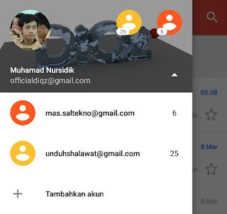 menambah akun gmail selesai