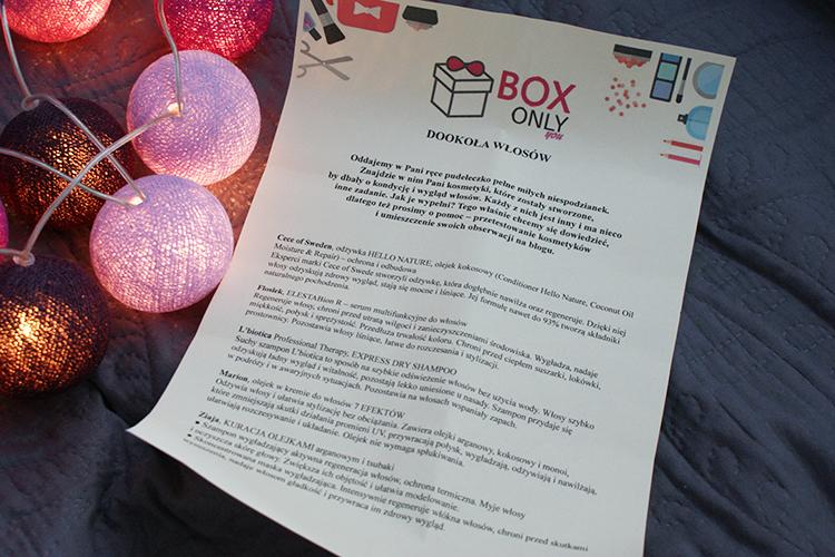 Box Only You pudełko z kosmetykami zawartość