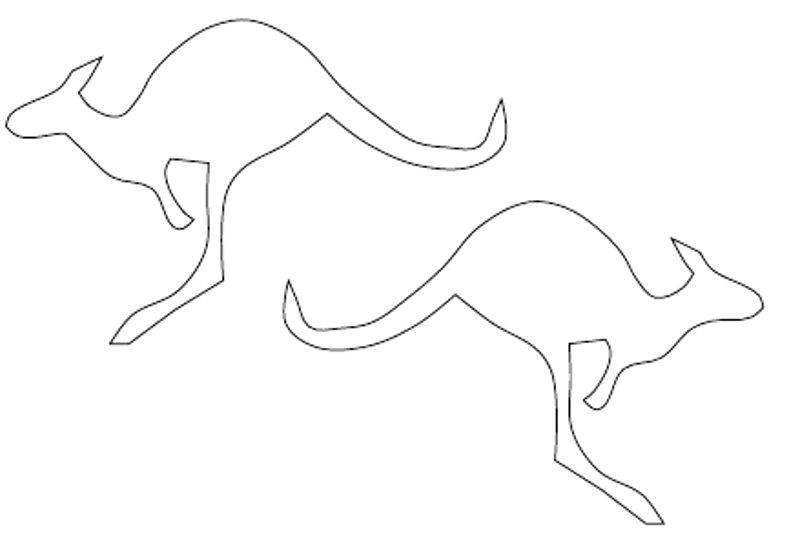 early play templates: Australian Animals: simple kangaroos