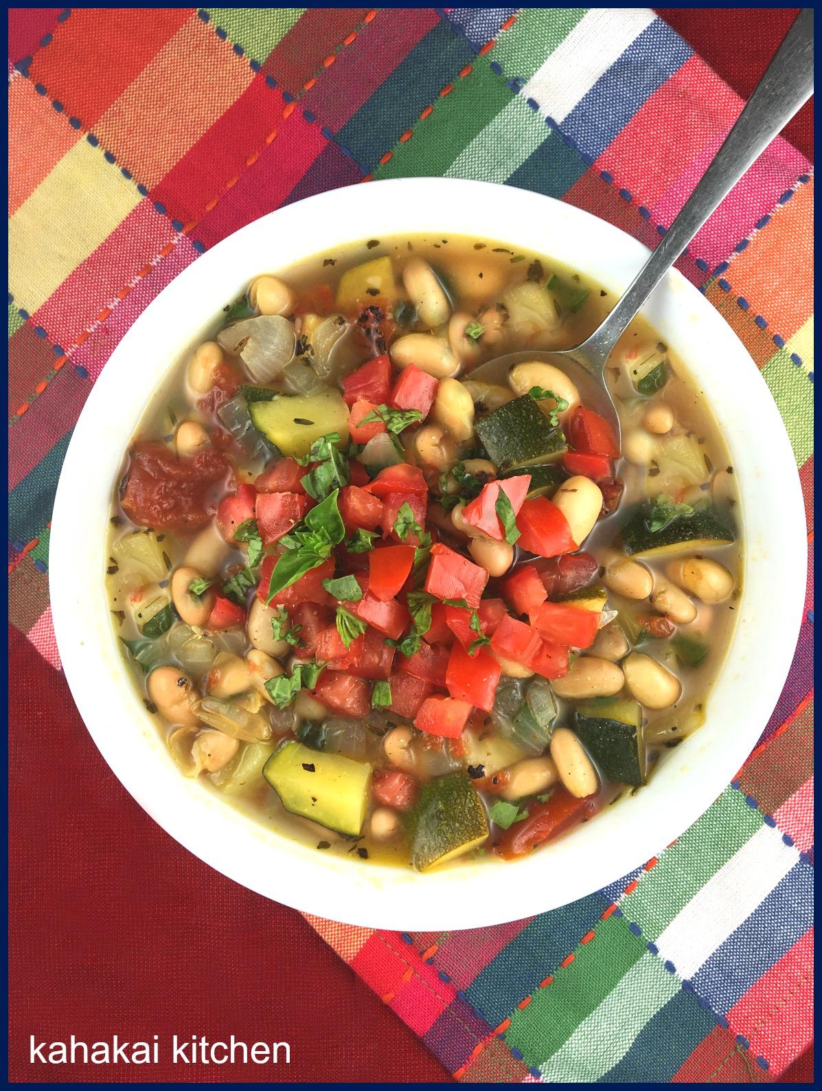 Kahakai Kitchen: Summery Zucchini and White Bean Soup for Souper (Soup ...