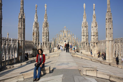Terraces of the duomo in Milano