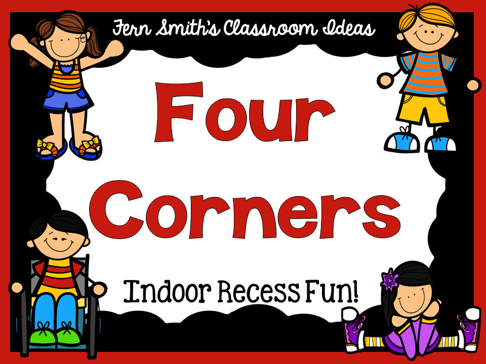 Fern Smith's Classroom Ideas Indoor Recess ~ Four Corners Directions FREE Printable