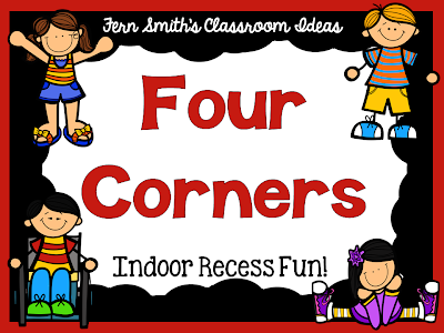 INDOOR RECESS ~ FOUR CORNERS DIRECTIONS FREEBIE