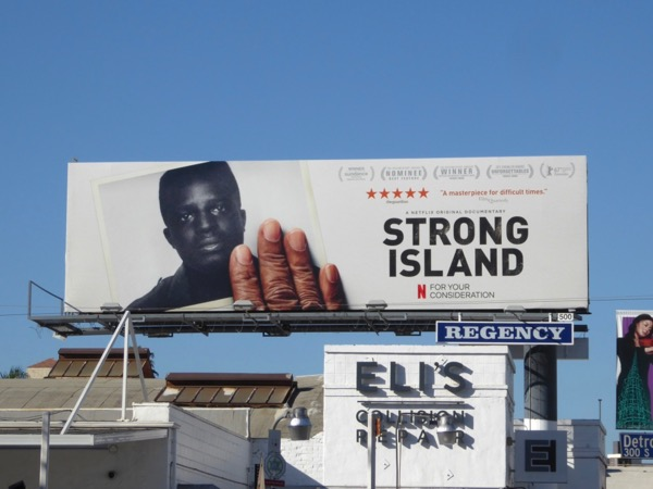 Strong Island documentary consideration billboard