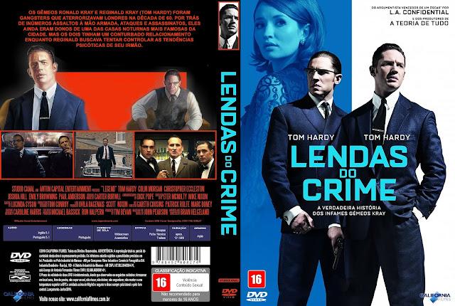 Capa DVD Lendas Do Crime