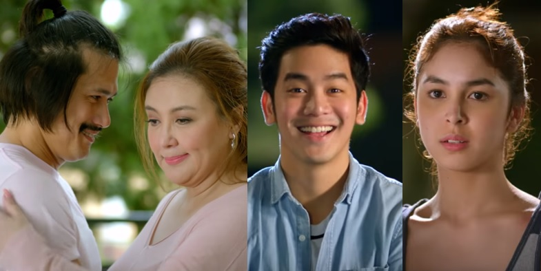 Robin Padilla as Cocoy, Sharon Cuneta as Patty, Joshua Garcia as Jason and Julia Barretto as Yanny Unexpectedly Yours