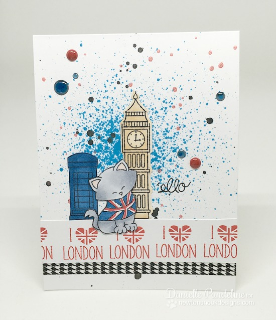 London cat Card by Danielle Pandeline | Newton Dreams of London 4 x 6 Cat Stamp set by Newton's Nook Designs #newtonsnook #london