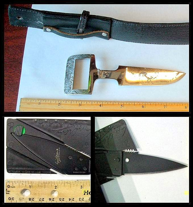 discovered belt knife