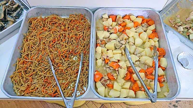 Yaki Soba, potatoes, pork, carrots