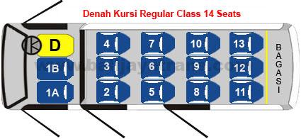 Regular Class 14 Seats | Balijayatrans.com