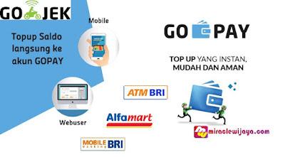 Cara Mudah Isi Ulang Saldo Gojek Via Alfamart ATM BRI Top Up Gojek Go Pay