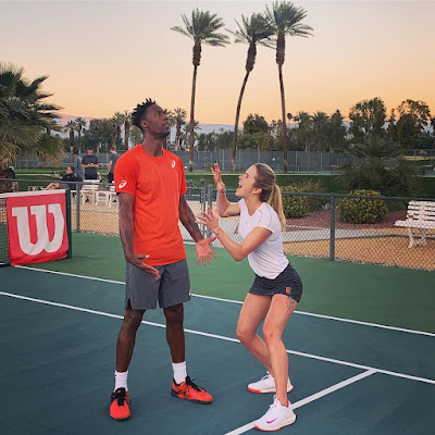 Tennis couple Gael Monfils and Elina Svitolina