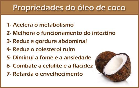Supostos benefícios do óleo de coco