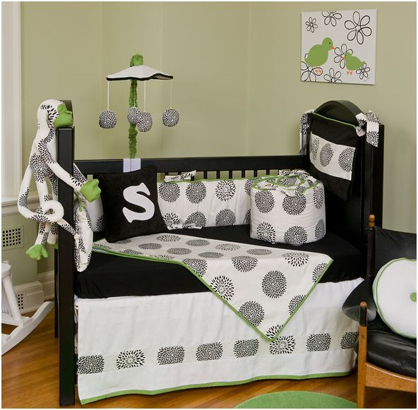 Black And White Baby Bedding Type Pictures