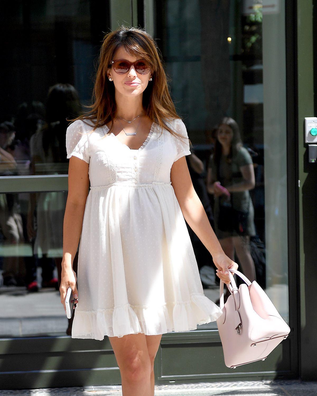 Hilaria Baldwin Leaves Crosby Hotel in New York City