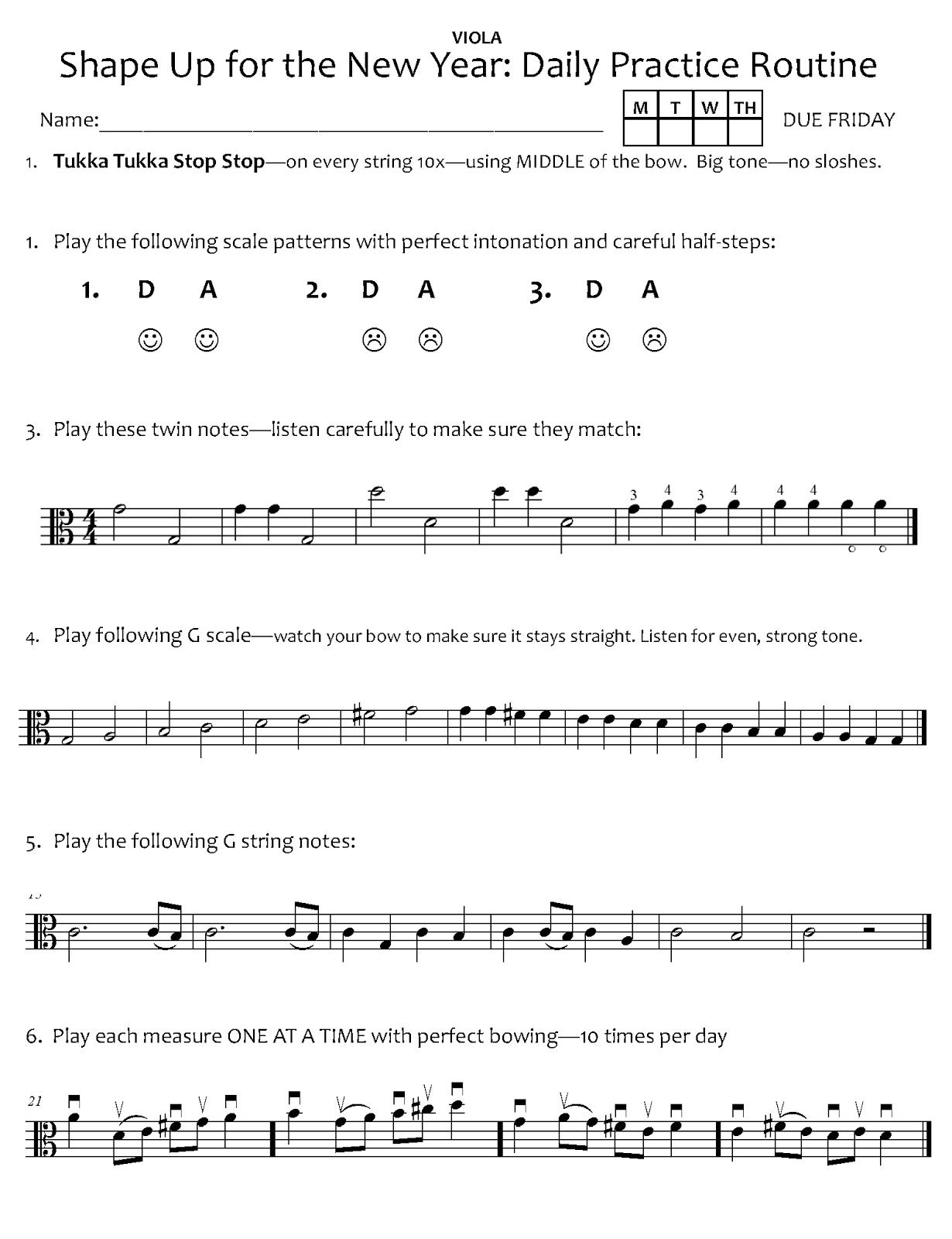 Orchestra Classroom Ideas January