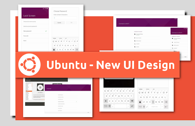 Novo design de interface do Ubuntu