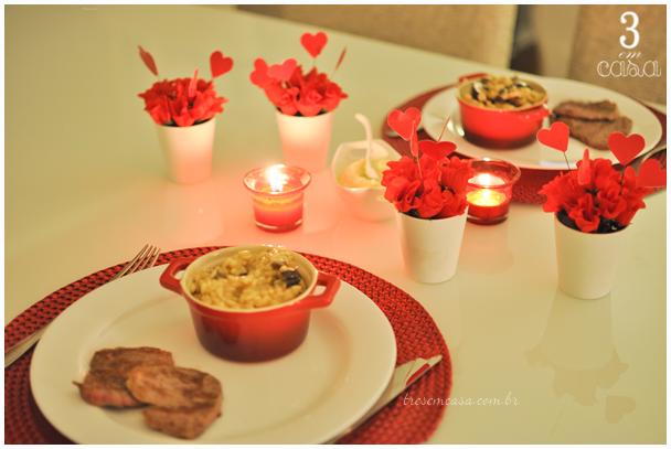 mesa posta jantar dia namorados