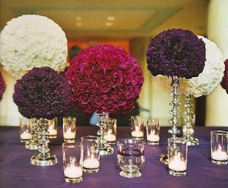 boules de fleurs déco de table