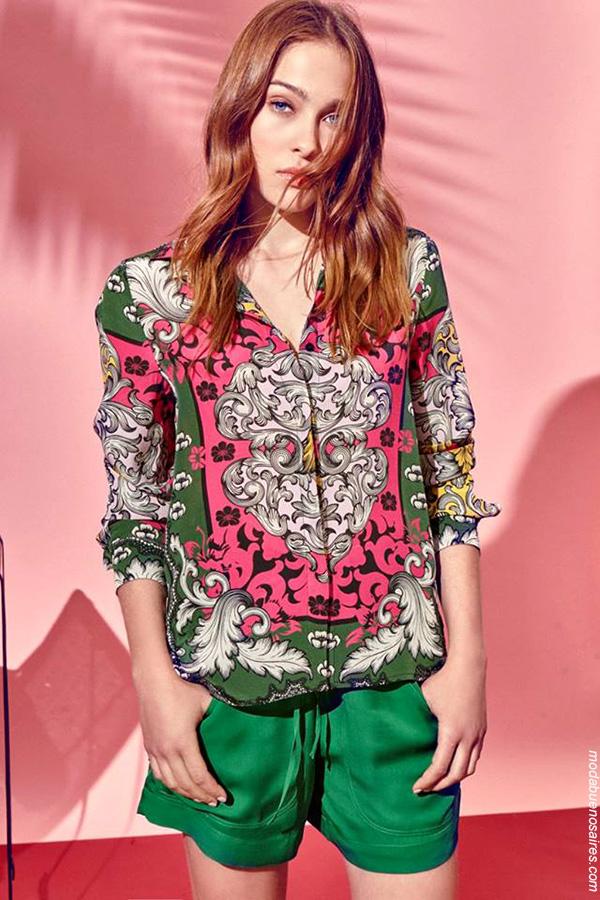 Blusas y camisas primavera verano 2018 ropa de mujer. Moda 2018.
