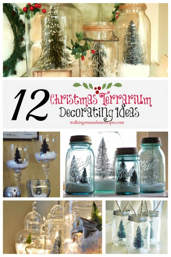 Christmas Terrariums from Walking on Sunshine Recipes
