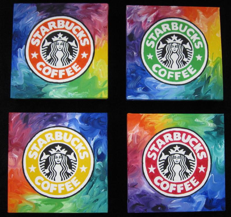 Stefanie Pop Art: Starbucks Coffee Logo Pop Art Suite