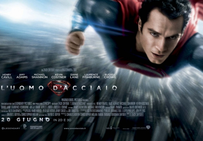 LUomo DAcciaio Superman dalle Palle DAcciaio