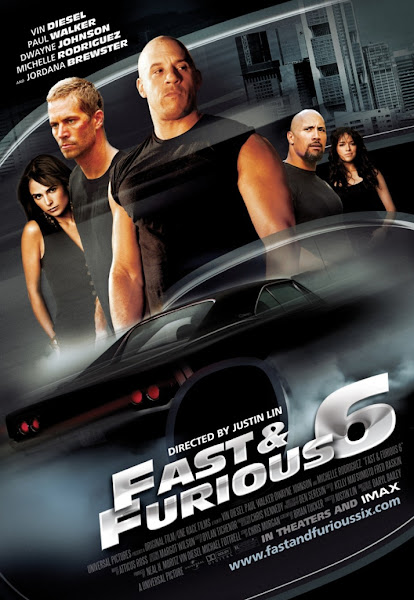 Poster Of Fast and Furious 6 (2013) 720p Hindi BRRip Dual Audio Full Movie