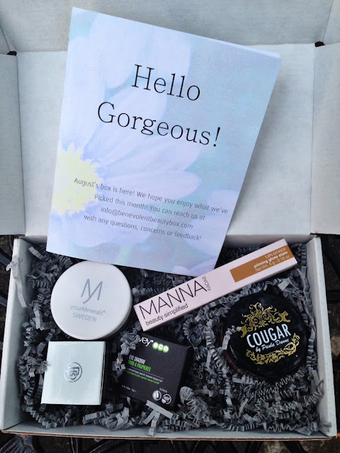 Benevolent Beauty VIP Box August 2016