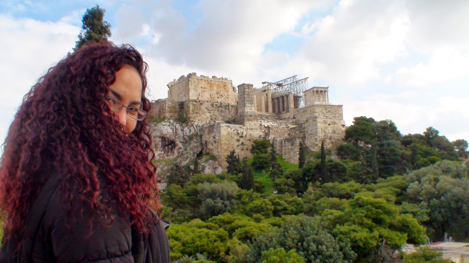 Liseth Fattorello en la Acrópolis