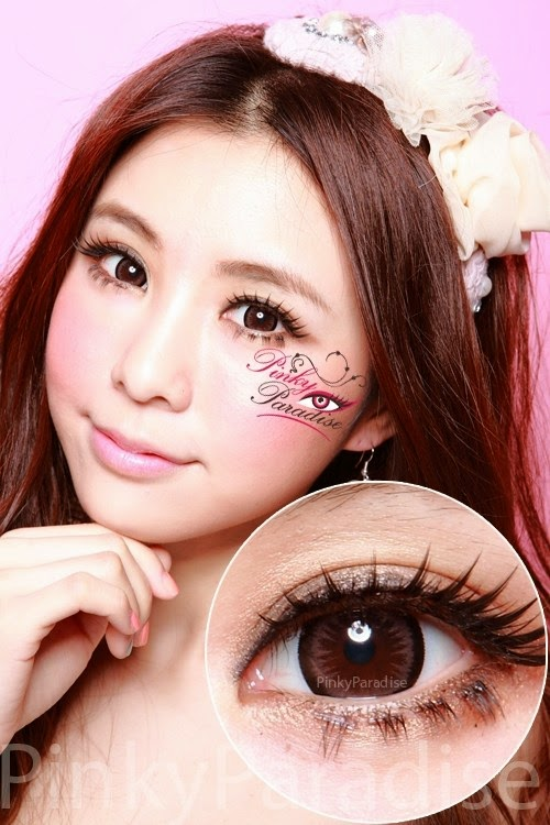 Geo Princess Mimi Almond Brown (Bambi series) Circle Lenses (Colored Contacts)